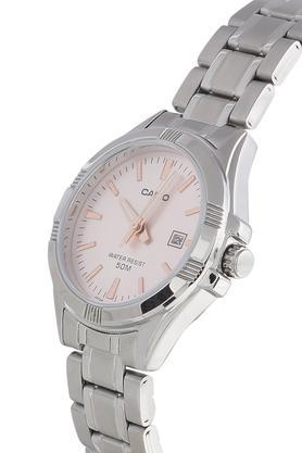 Womens Pink Dial Metallic Analogue Watch - A1510