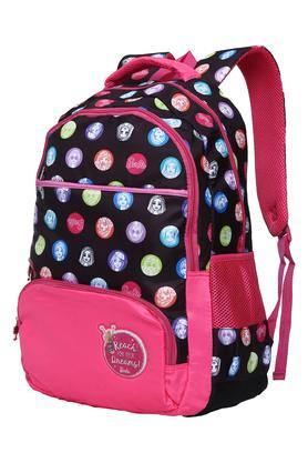 Girls Barbie Print School Bag