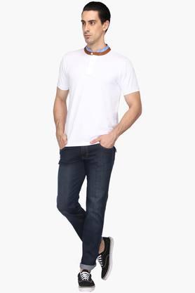 Mens 5 Pocket Mild Wash Jeans (Rockville Fit)
