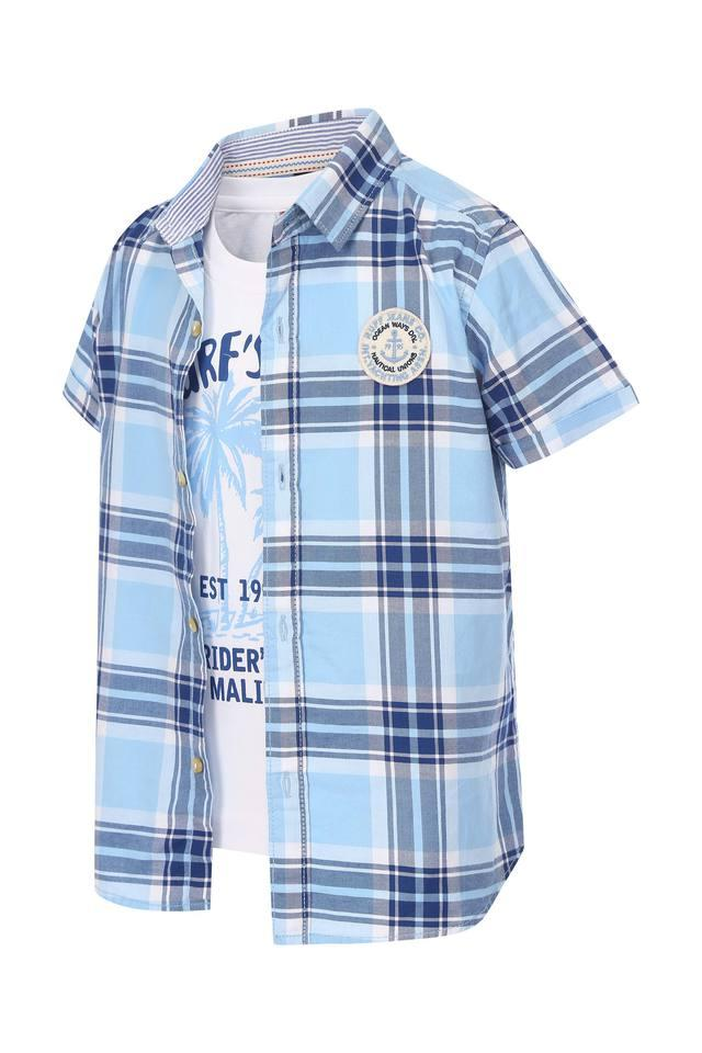 Boys Checked Shirt with T-Shirt
