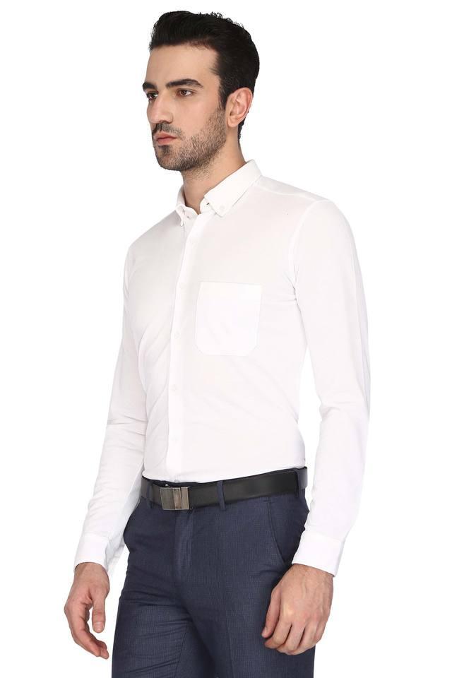 Mens Buttondown Collar Solid Shirt