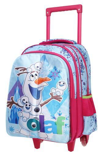 Kids Frozen Flap Blue School Trolley Bag