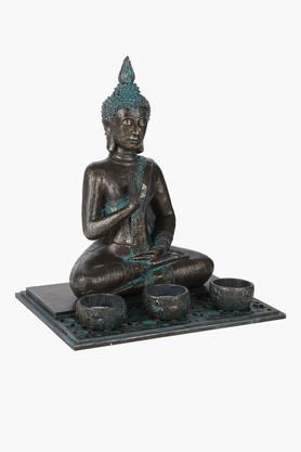 Buddha with 3 T-Light Candle Holder