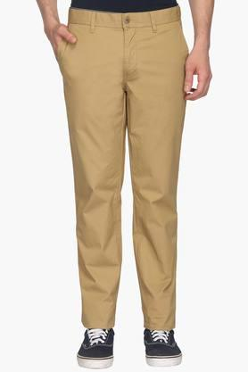 LOUIS PHILIPPE SPORTS Mens 4 Pocket Solid Chinos - 202726032