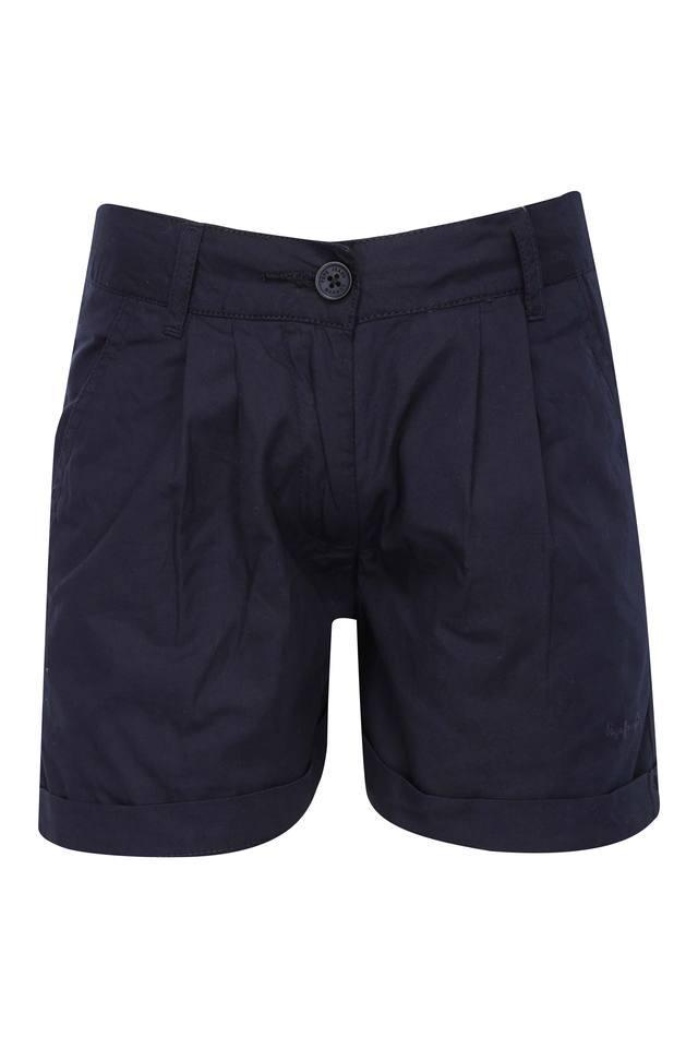 Girls 3 Pocket Solid Shorts