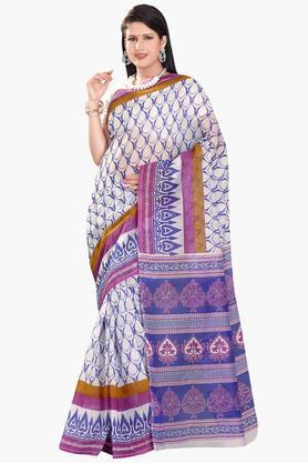 DEMARCAWomens Cotton Blend Printed Saree