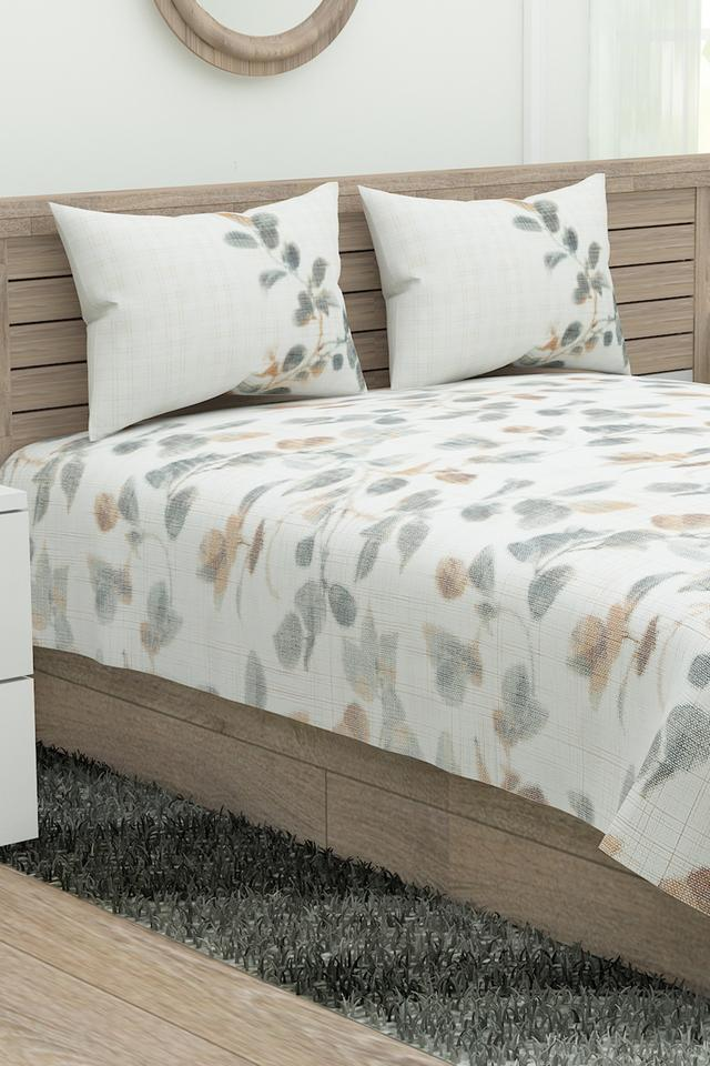 Prime Collection Printed Single Bed Sheet with 2 Pillow Covers