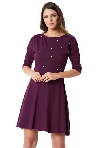 MISS CHASE -  Magenta Dresses - Main