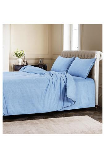 B860 -  Denim Antique Dark Double Bed Sheets - Main