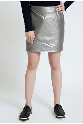 COVER STORYWomens Solid Casual Skirt