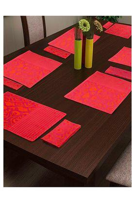 SWAYAM Colour Block Place Mat And Napkin Set Of 12