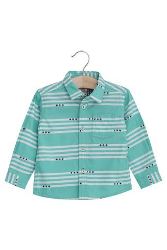 Kids Collared Striped Casual Shirt