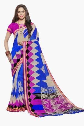 ISHINWomens Art Silk Printed Saree - 203495555_7086