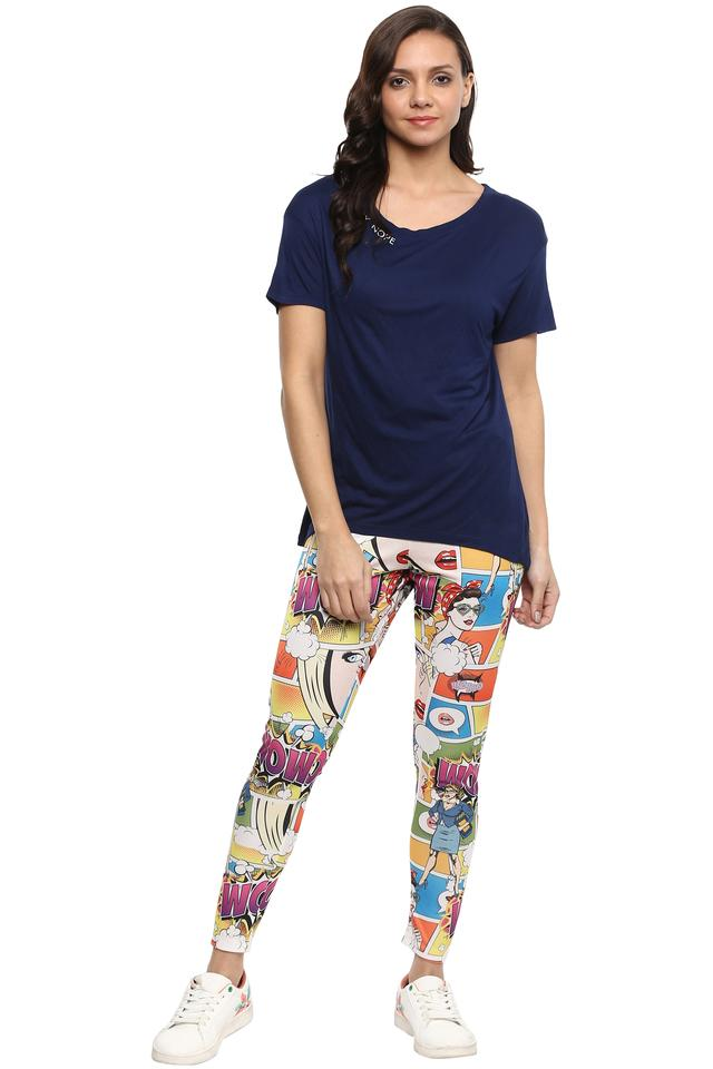 Womens Printed Casual Jeggings