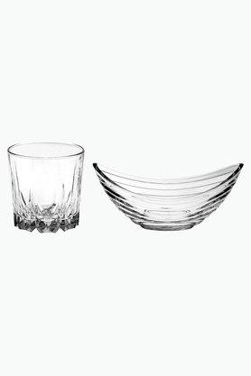 Round Sip and Chip Glasses and Bowls Set of 8