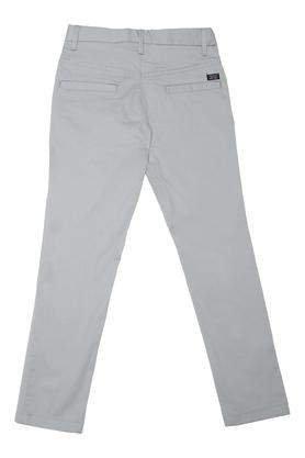 Boys 4 Pocket Solid Pants