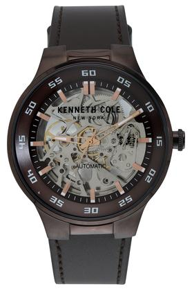 Mens Multi-Colour Dial Leather Automatic Watch - KC50710003MN