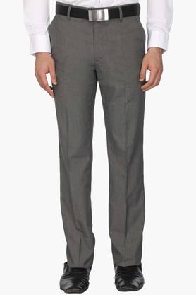 LOUIS PHILIPPE Mens 4 Pocket Slub Formal Trousers - 203054219