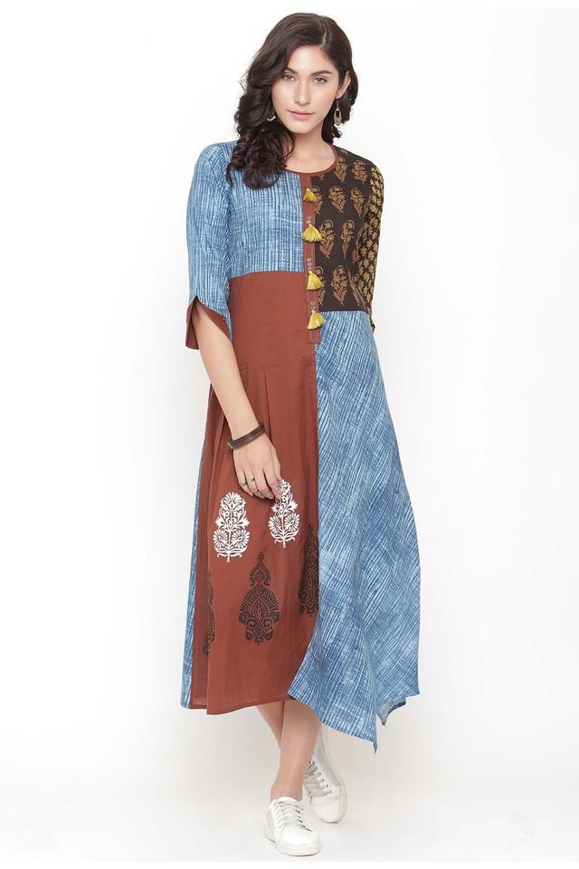 Women Cotton Printed Fit and Flare dress
