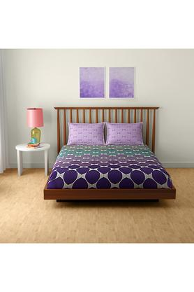 SPACESCotton Printed Double Bedsheet With 2 Pillow Covers - 203257358_9900