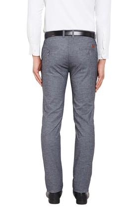 Mens 4 Pockets Slub Chinos