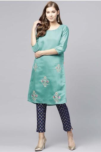 JUNIPER -  GreenSalwar & Churidar Suits - Main