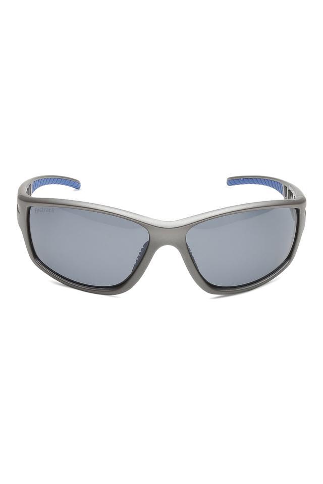 Mens Wrap Round UV Protected Sunglasses - NBP403BK2P