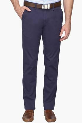 LOUIS PHILIPPE SPORTSMens 4 Pocket Solid Chinos