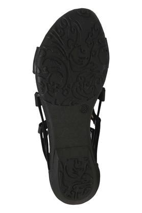 Womens Casual Wear Zipper Closure Gladiator Flat Sandals