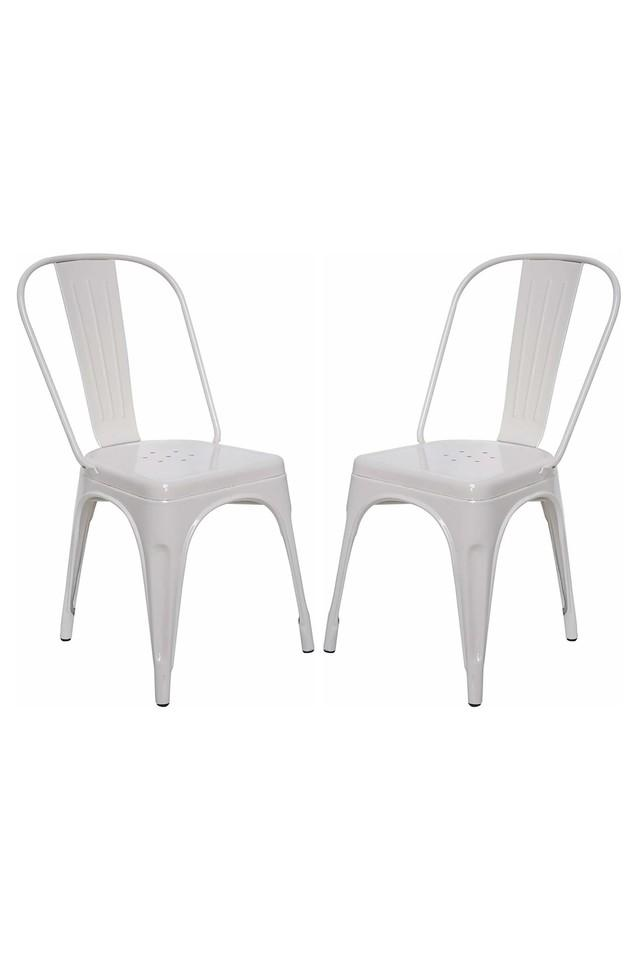 White Stylo Chairs Set of 2