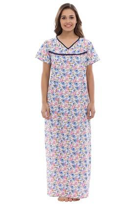 X CLOVIA Maternity V-Neck Floral Print Night Gown c58d91535