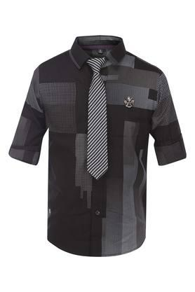Boys Printed Shirt With Tie
