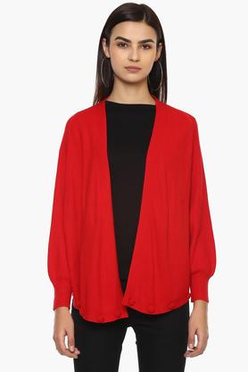 GIPSY Womens Open Front Solid Shrug