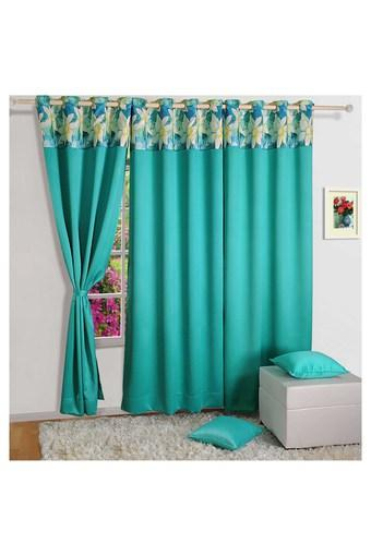 Floral Print Window Curtain