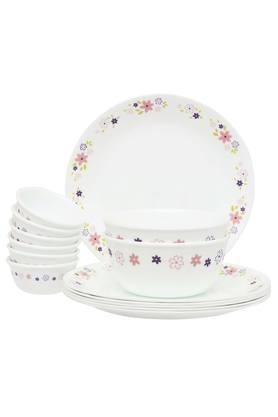 CORELLE Round Floral Fantasy Printed Dinner Set Of 14