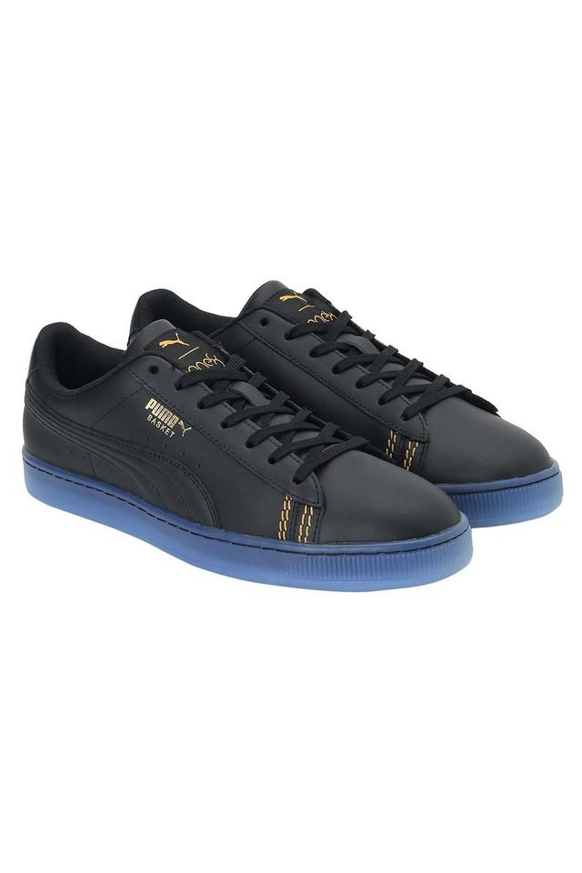 Unisex Synthetic Leather Lace Up Sneakers