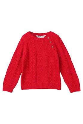 Boys Round Neck Knitted Sweater