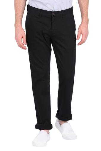 LOUIS PHILIPPE -  Black Cargos & Trousers - Main