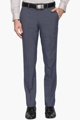 LOUIS PHILIPPE Mens 4 Pocket Slub Formal Trousers - 203032200