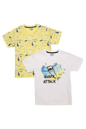 Boys Round Neck Printed Tee Pack of 2