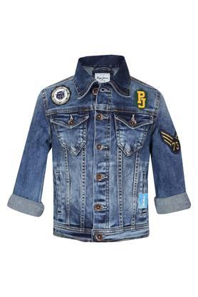 Boys Collared Assorted Applique Jacket
