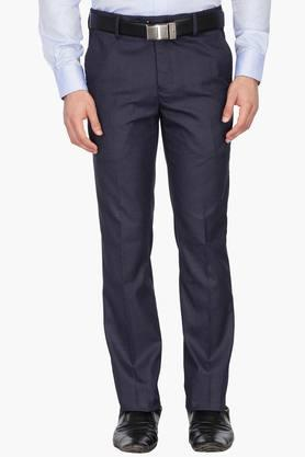 LOUIS PHILIPPE Mens 4 Pocket Slub Formal Trousers - 203032193