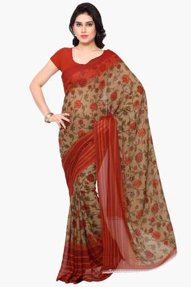 DEMARCA Womens Faux Georgette Printed Saree - 203229522