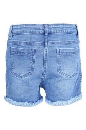 Girls 5 Pocket Embroidered Shorts