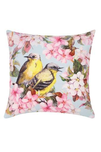 Square Floral Print Cushion Cover