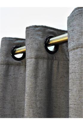 Polyester Monochrome Slub Long Door Curtain