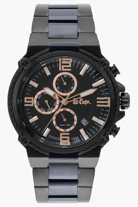 Mens Multi-Function Black Dial Metallic Watch - LC06582650