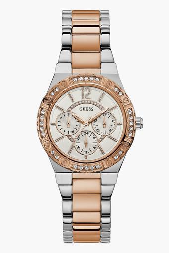 6b22276b0 Buy GUESS Womens Analogue Metallic Watch - W0845L6 | Shoppers Stop