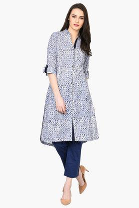 RANGRITI Womens Straight Cotton Indie Kurta - 203078396