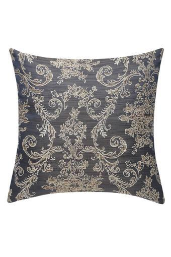 Gold Woven Square Cushion Cover
